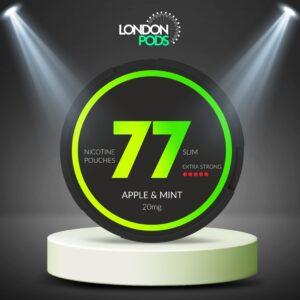 77 Apple & Mint Dark Nicotine Pouch