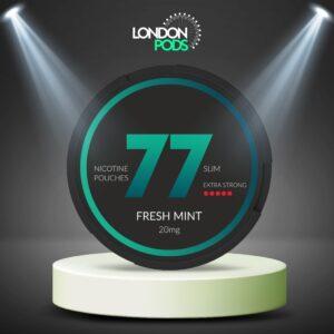 77 Fresh Mint Dark Nicotine Pouch