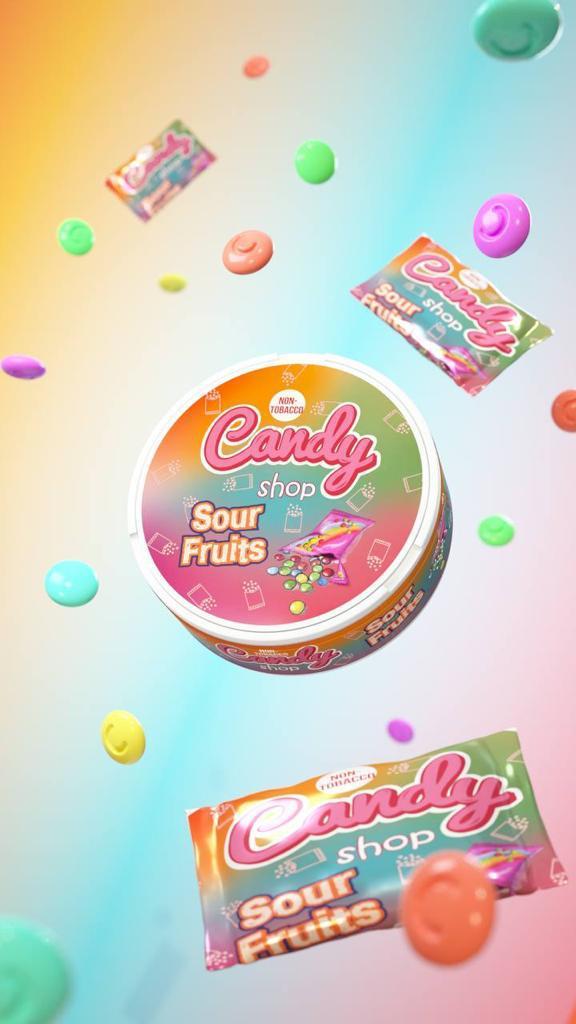 candy shop sour fruits snus nicotine pouches