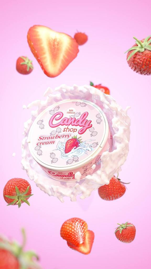 candy shop strawberry cream snus nicotine pouches