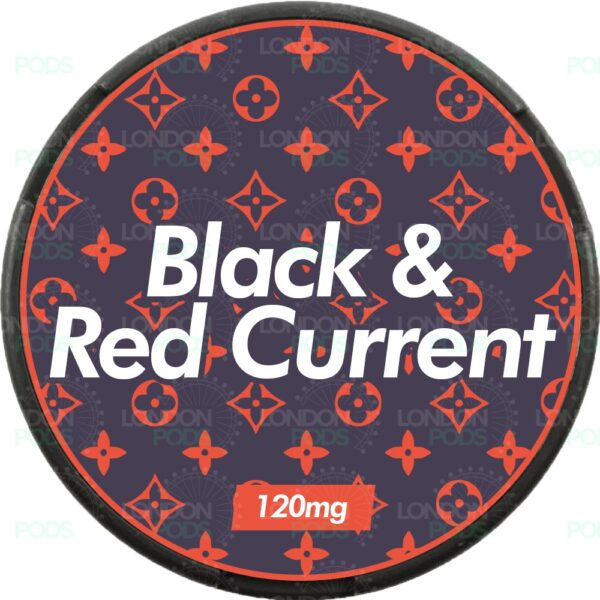 supreme black and red current snus nicopods
