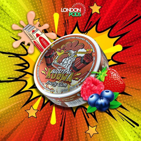 kurwa fruity gum snus nicotine pouches