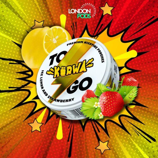 kurwa to go ice lemon strawberry snus nicotine pouches