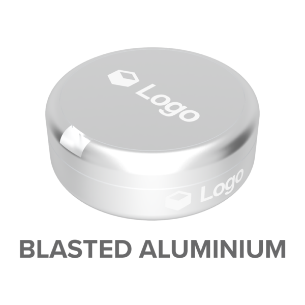BLASTED ALUMINIUM - Nicotine Pouch Customisable Container