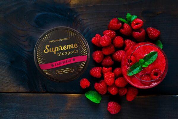supreme raspberry snus nicotine pouches