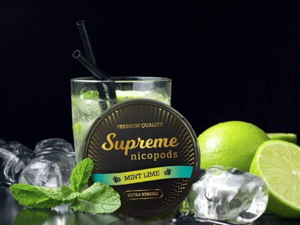 supreme mint lime snus nicotine pouches