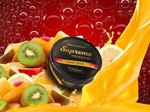 supreme fruit juice snus nicotine pouches