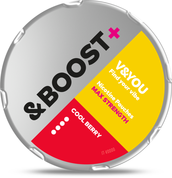 v&you &boost+ cool berry snus nicotine pouches