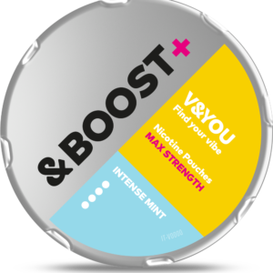 v&you &boost+ intense mint snus nicotine pouches